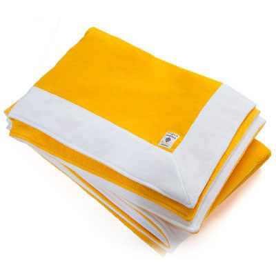 Compare prices for Acqua Di Parma 1 x Yellow Velvet Terrycloth Bath Towel 100cm x 150cm
