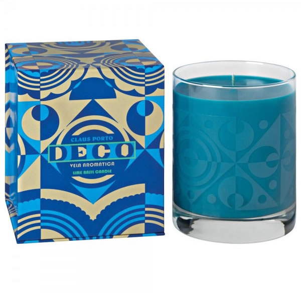 Image of Claus Porto Deco Lime Basil Candle