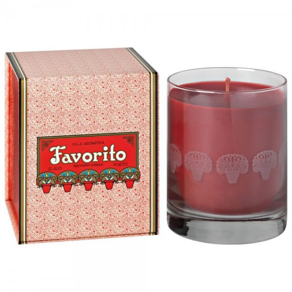 Image of Claus Porto Favorito Red Poppy Candle