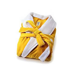 Acqua Di Parma Yellow Velvet Terrycloth Bathrobe Small