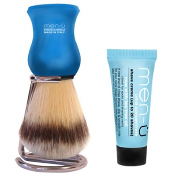 men-u Premier Shaving Brush and Stand - Blue